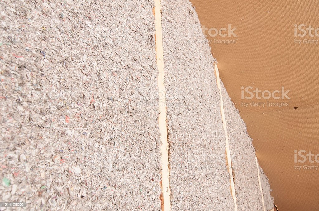 Wood fiber insulation boards stock photo