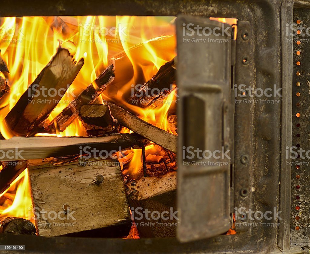 wood fire for the chimney royalty-free stock photo