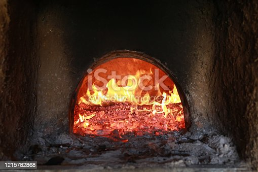 Wood fired oven.