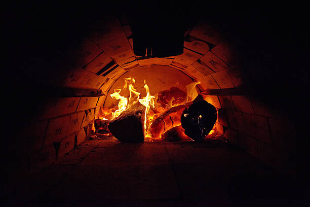 Wood fired oven stock photo
