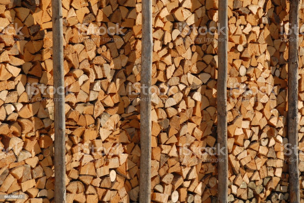 Holz - Brennholz - Baumstamm - Deutschland royalty-free stock photo