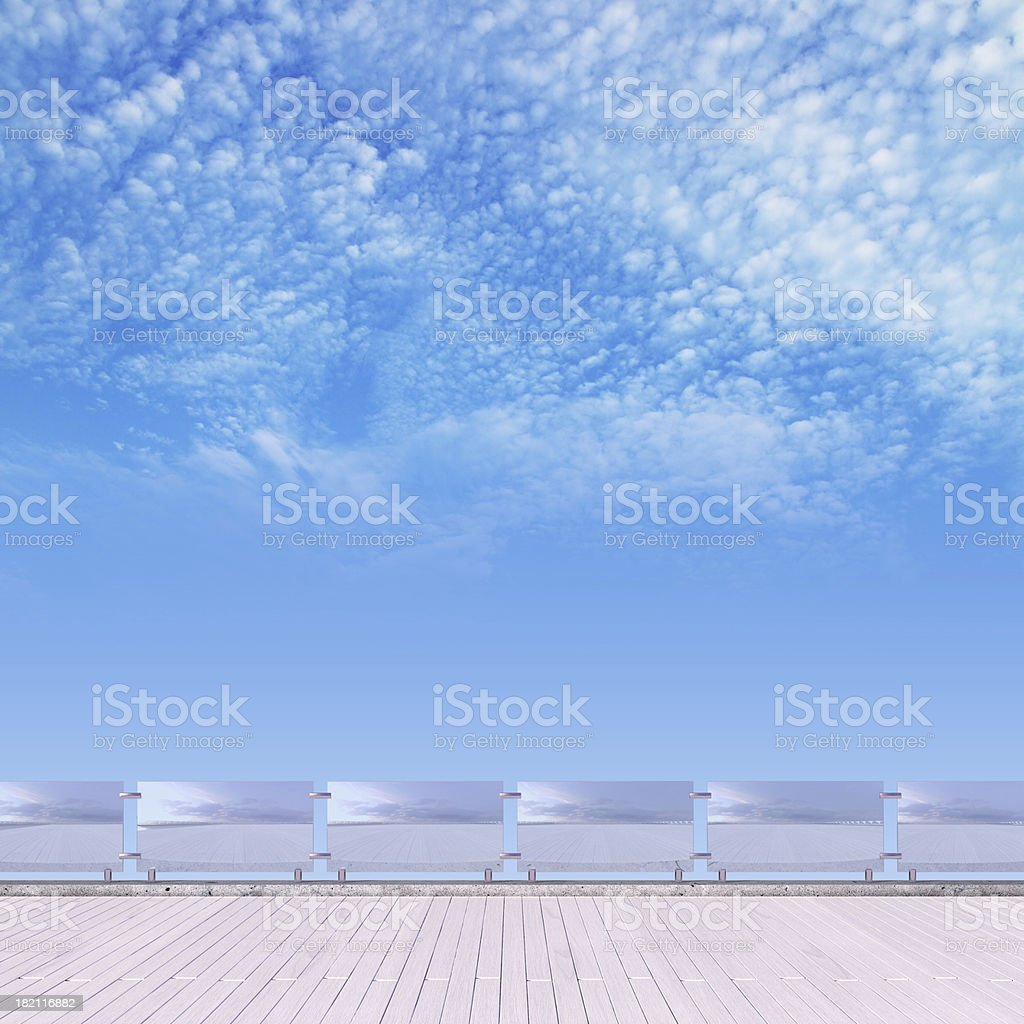 wood floor and sky royalty-free stock photo