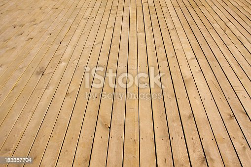 Perspective of wood floor background textured