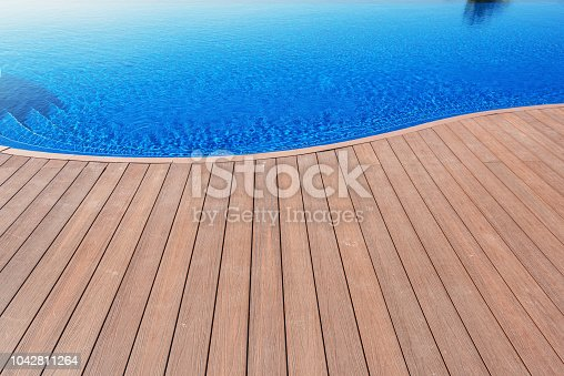 Wood Floor Beside Swimming Pool