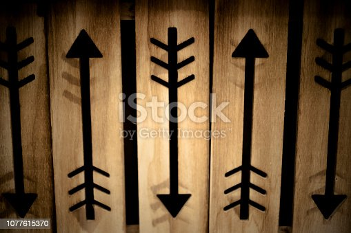istock wood floor pattern background with arrows ethnic style 1077615370
