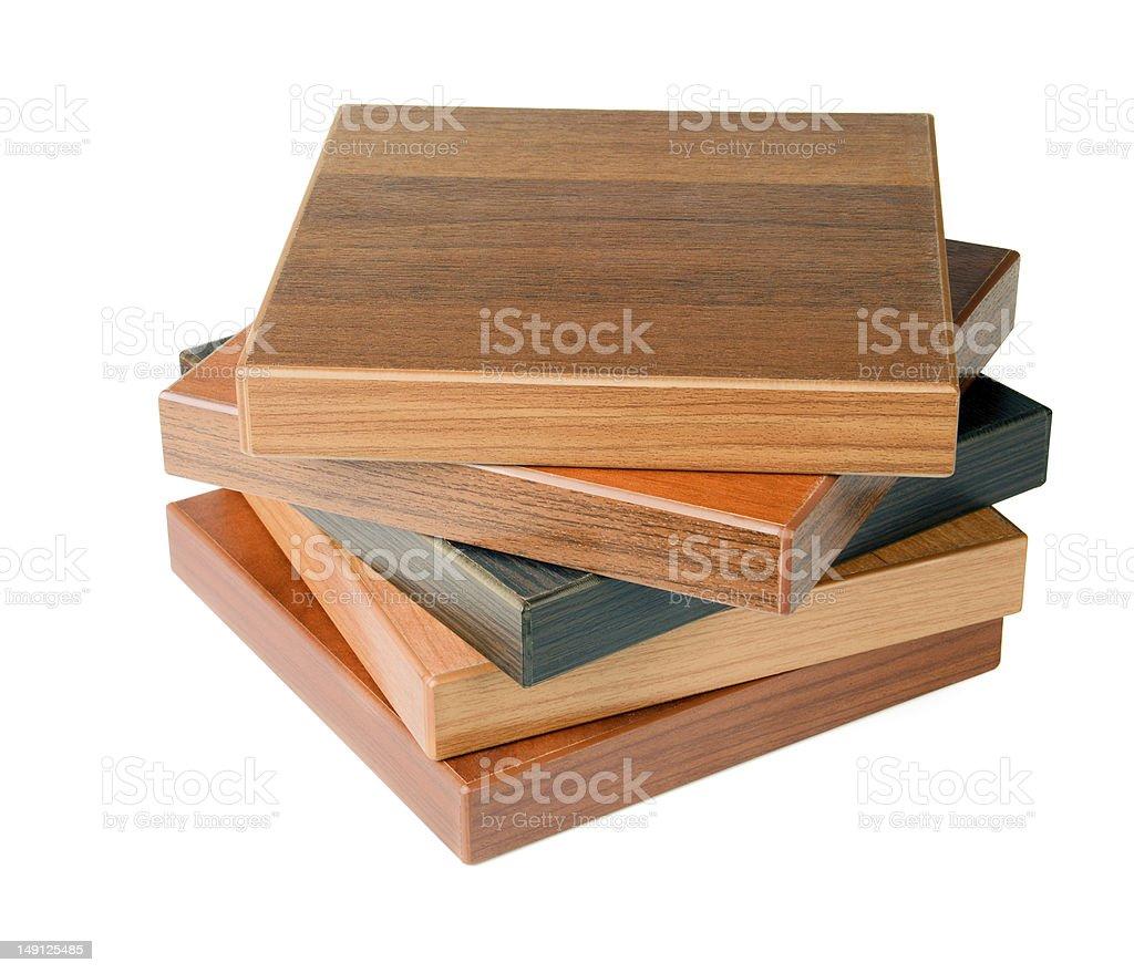 Wood floor samples royalty-free stock photo