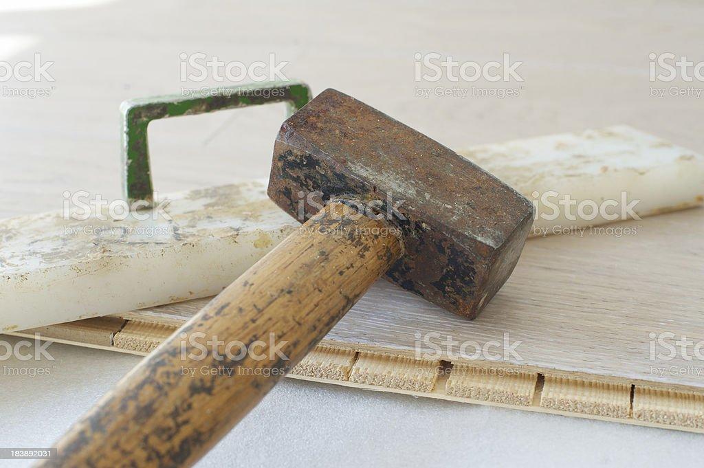 Wood flooring royalty-free stock photo