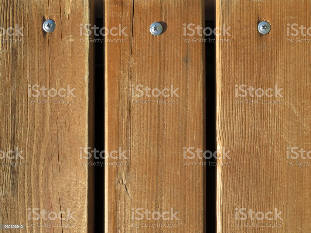 Wood Flooring Wooden Boards With Screws Stock Photo Download