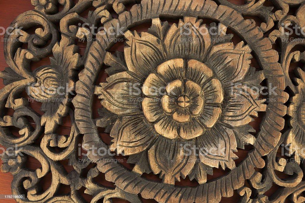 Wood flower royalty-free stock photo