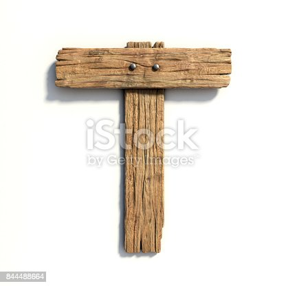 Wood Font Plank Letter T Stock Photo More Pictures Of Alphabet