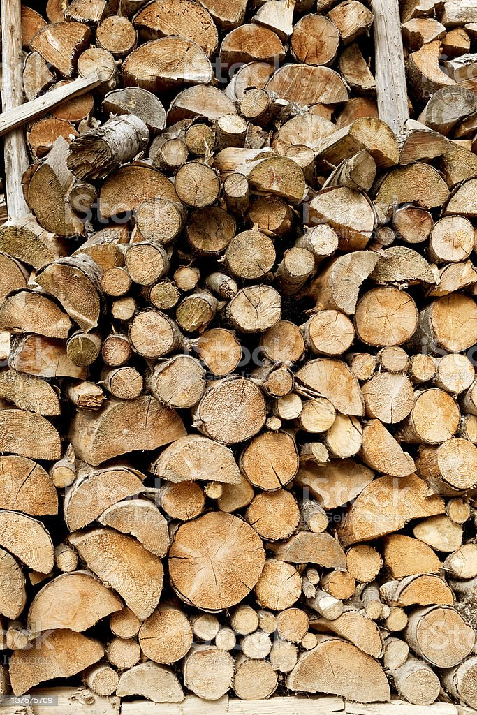 Wood For Fire Place royalty-free stock photo
