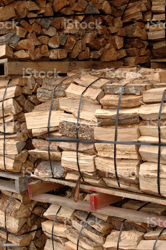 Wood for fireplace royalty-free stock photo