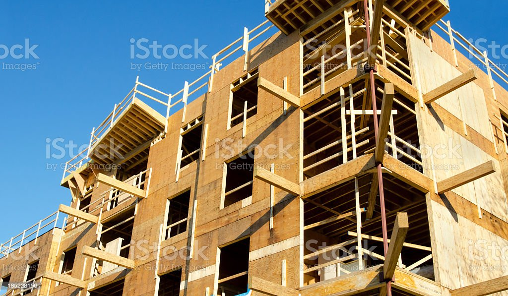 Wood Frame Construction Site royalty-free stock photo