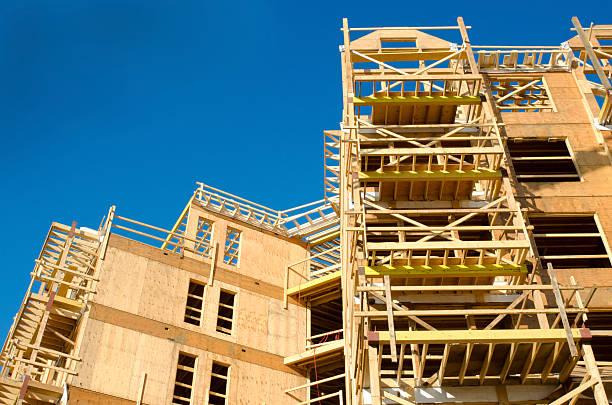 Cadre en bois de Construction Site - Photo