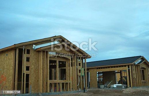 534196421 istock photo wood frame home 1136962738
