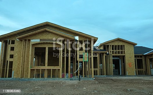 534196421 istock photo wood frame home 1136963060