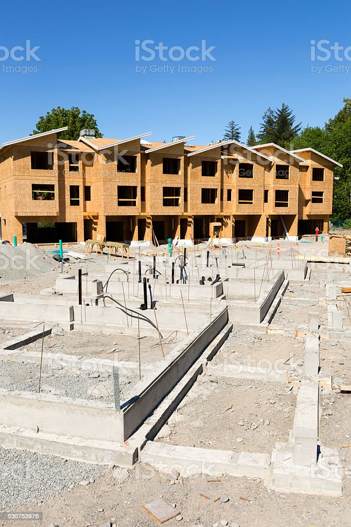 Wood Frame House Construction Industry Stock Photo & More Pictures ...