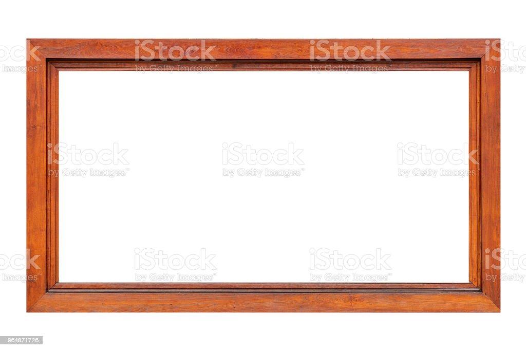 Wood frame isolated on white background royalty-free stock photo