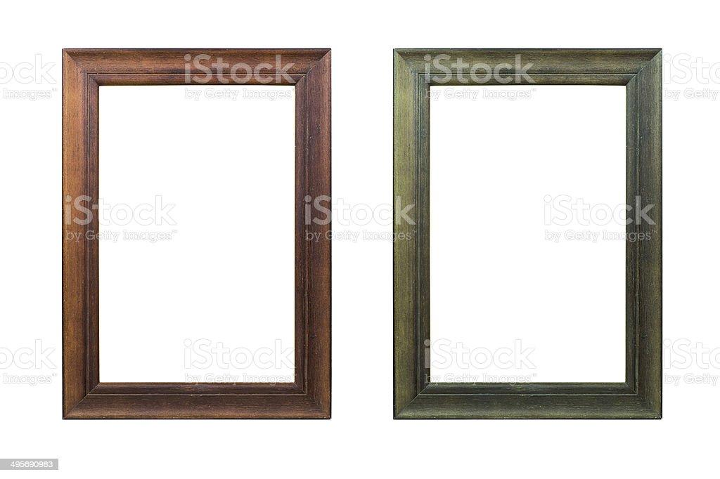 Wood frame isolated on white. royalty-free stock photo