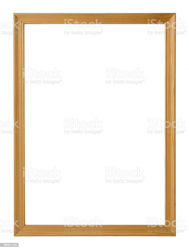 Wood frame royalty free stockfoto