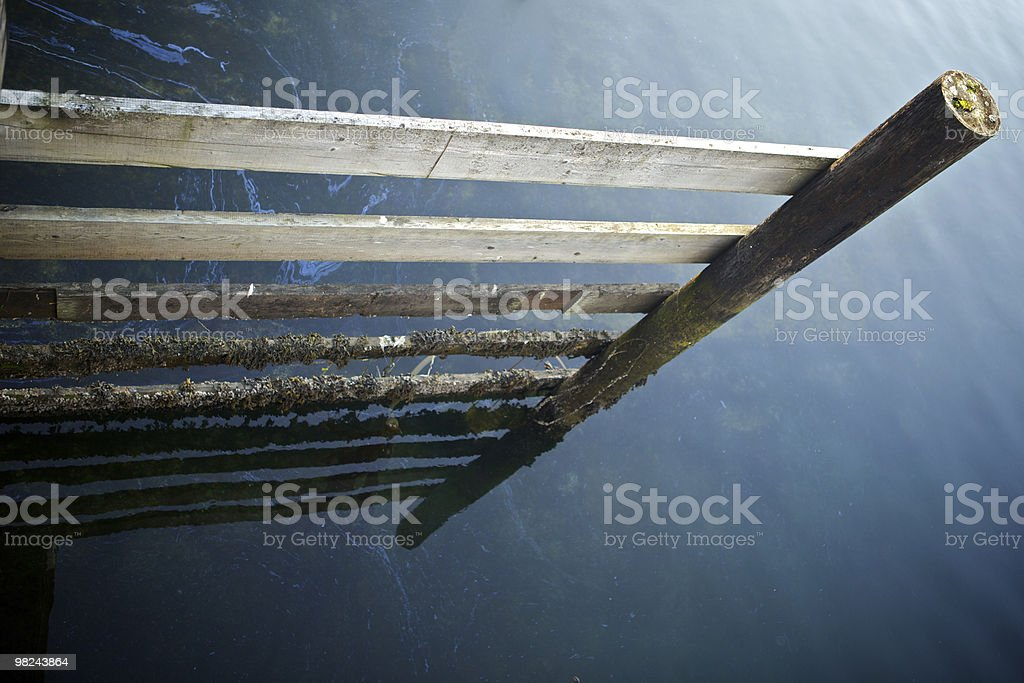 Wood Frame with Reflection royalty-free stock photo
