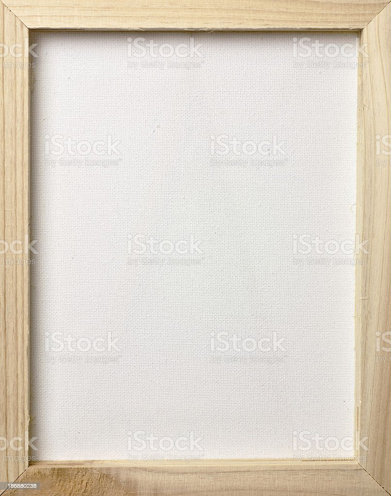 Wood Framed Canvas royalty-free stock photo