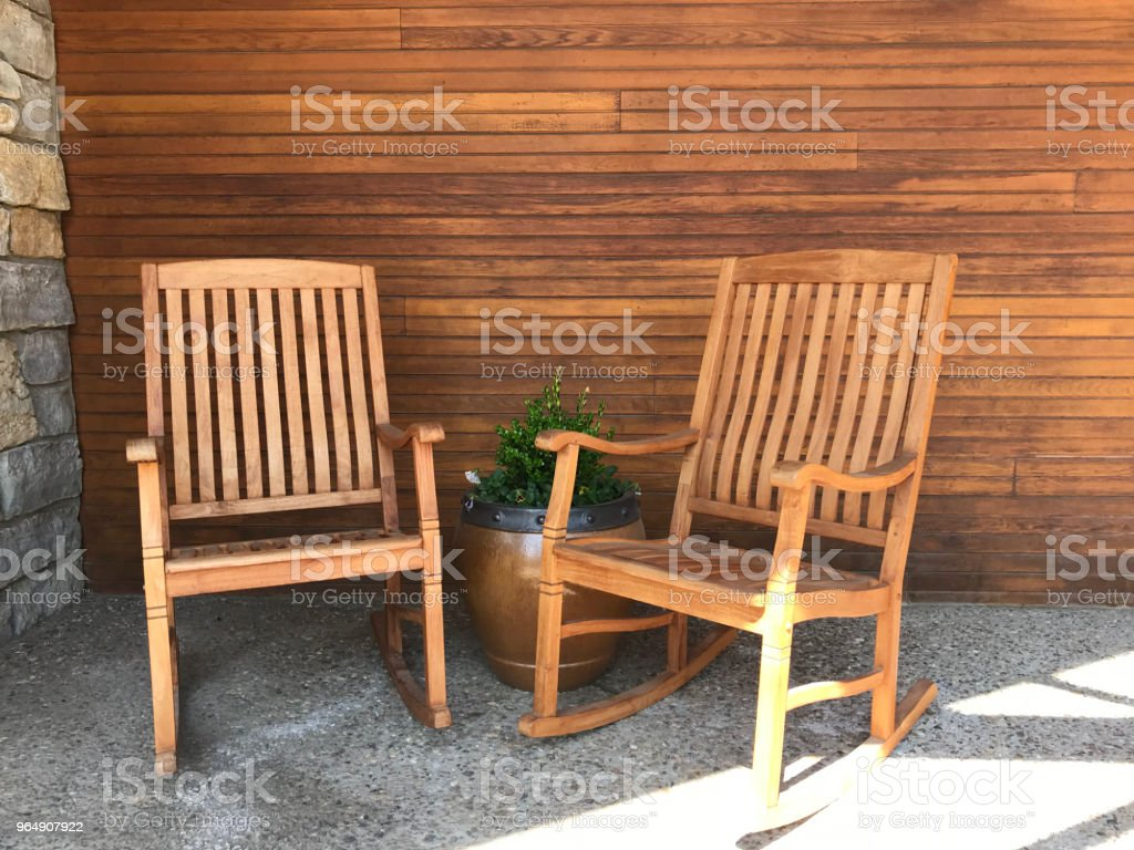 Wood Front Porch royalty-free stock photo