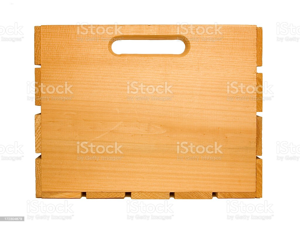 Wood Fruit Crate royalty-free stock photo