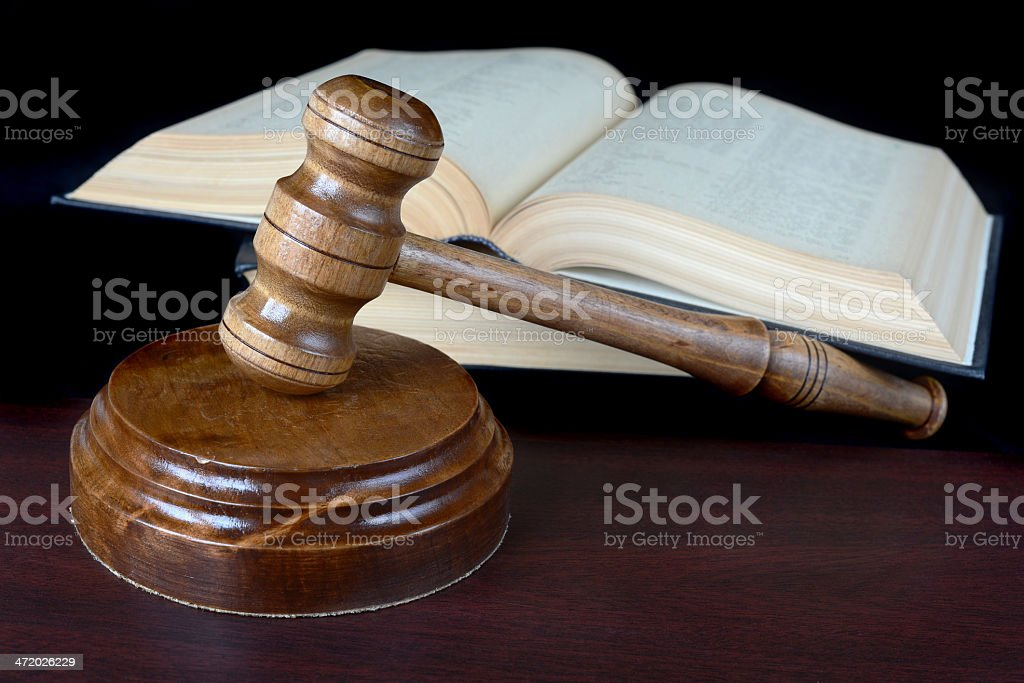 Wood gavel royalty-free stock photo