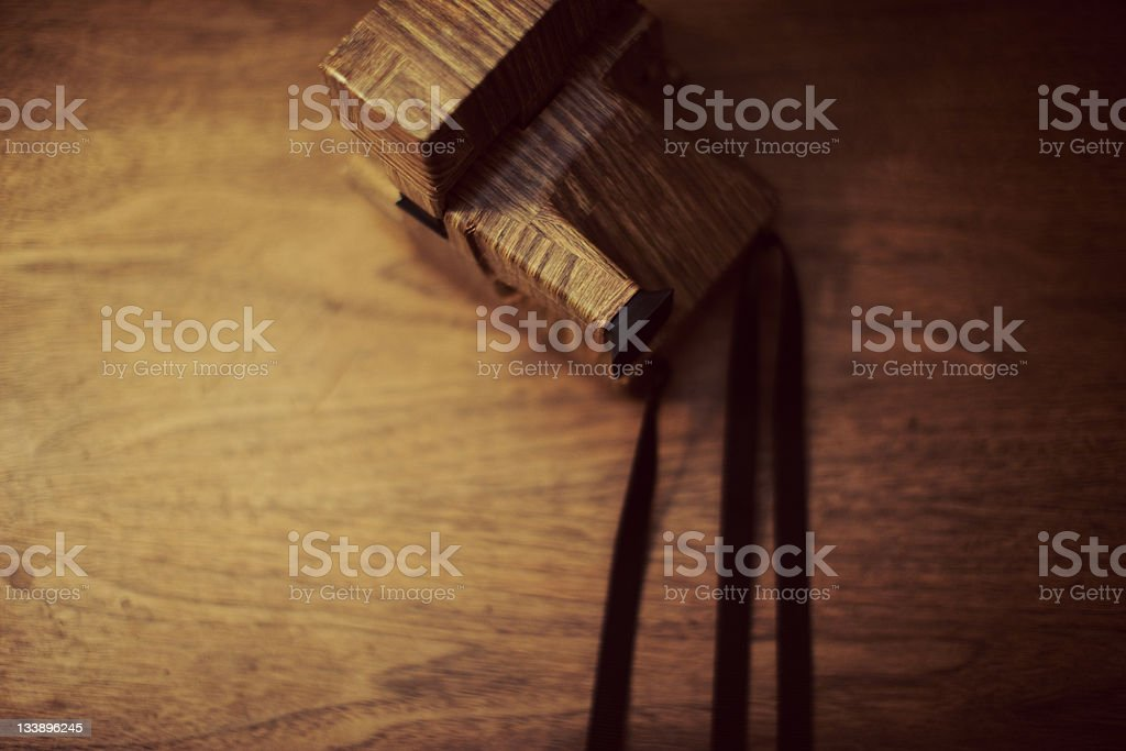 Wood Grain Instant Camera royalty-free stock photo