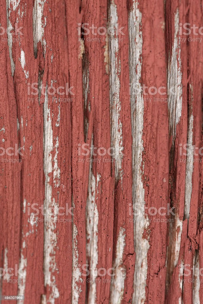 Wood in need of repainting stock photo