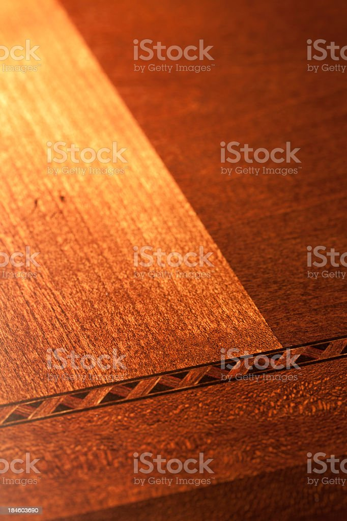 Wood inlay pattern stock photo