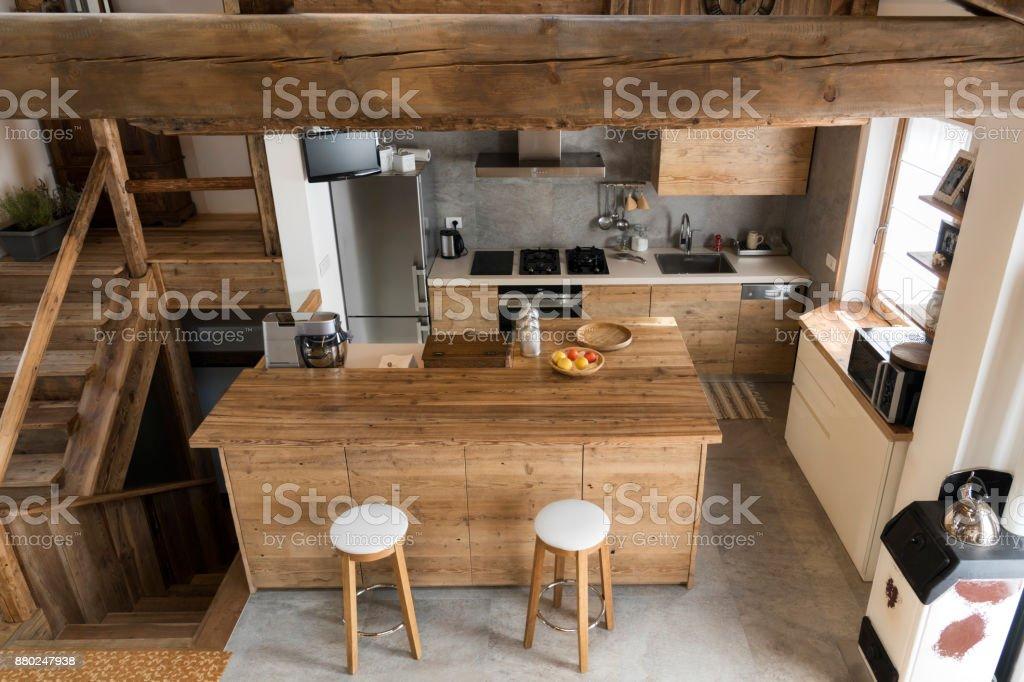 Holz Küche im Landhausstil – Foto