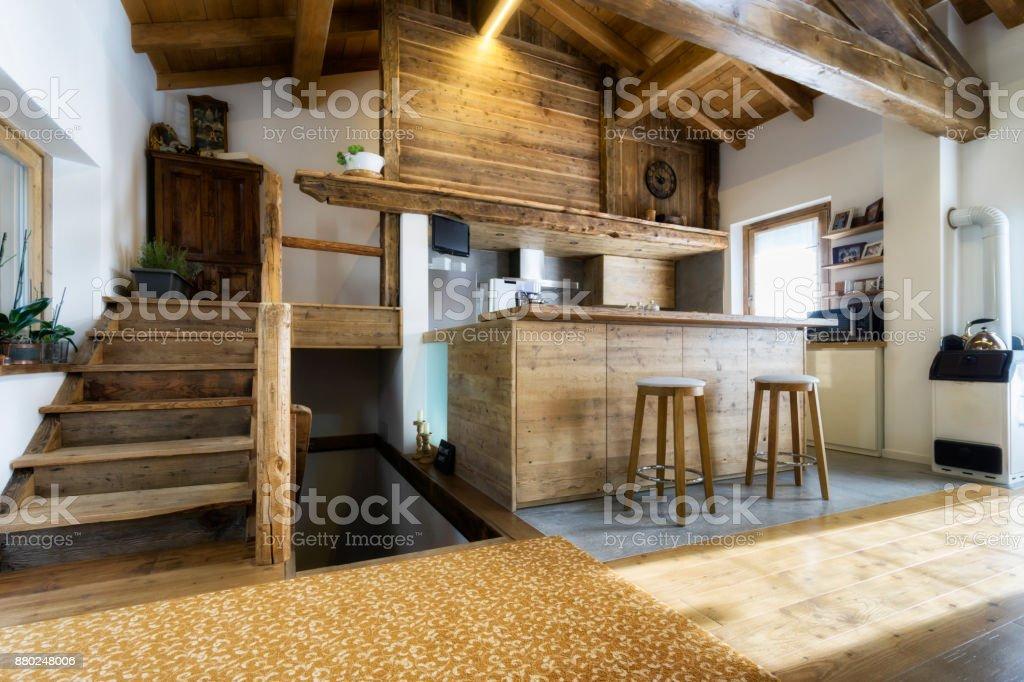 Holz Küche im modernen Stil – Foto