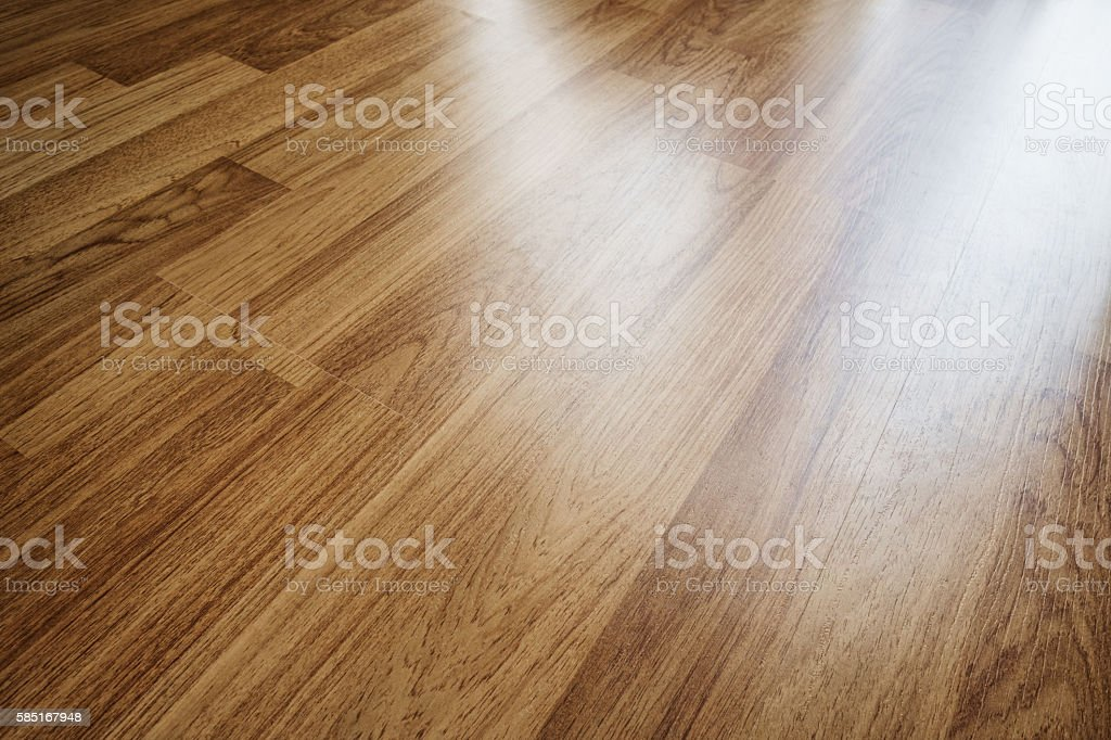 Wood laminated floor texture with reflection light stock photo