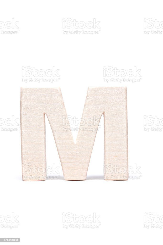 M, wood letter royalty-free stock photo