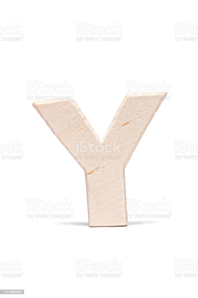 Y, wood letter royalty-free stock photo