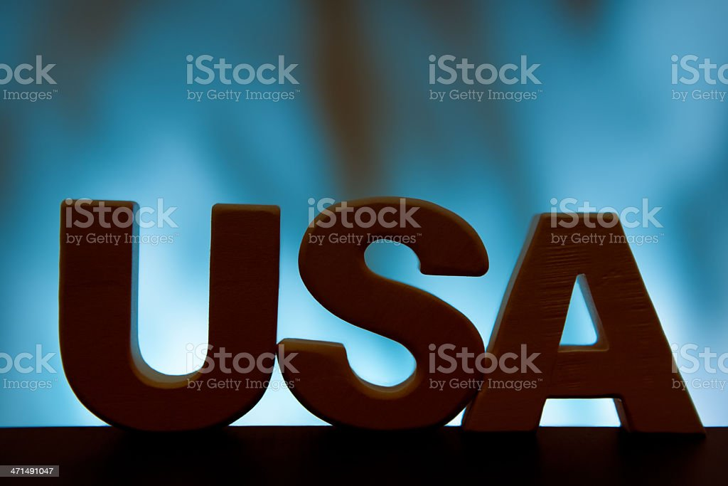 USA, wood letter word royalty-free stock photo