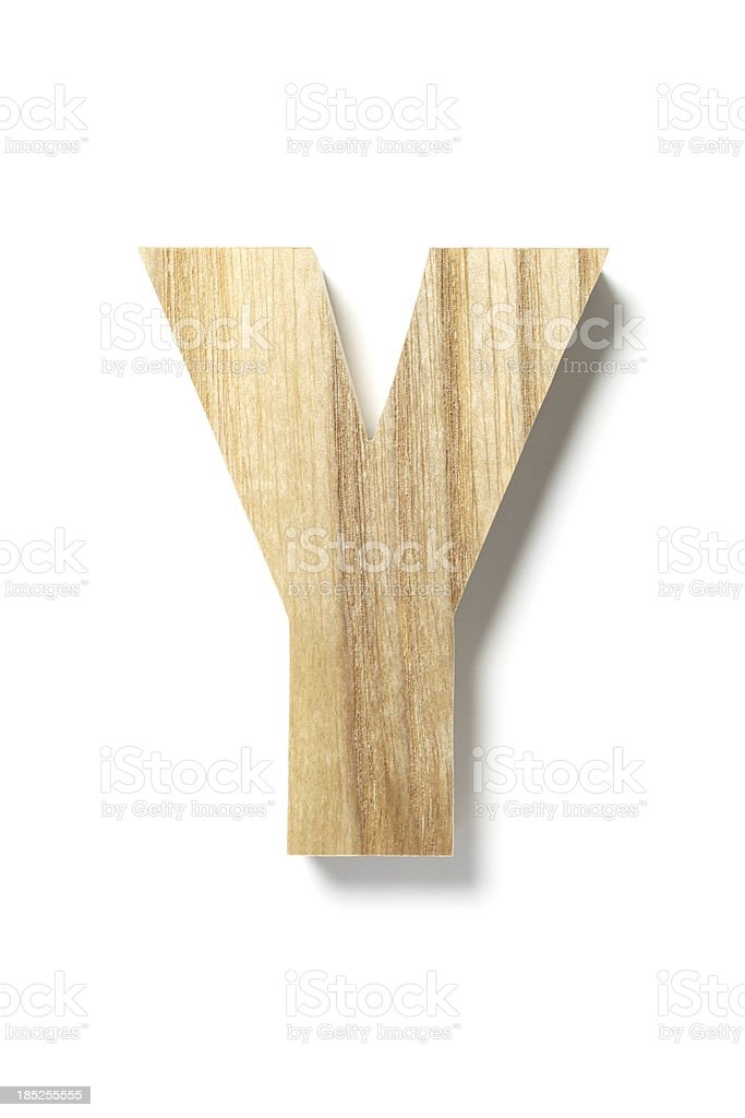 Wood Letter Y royalty-free stock photo