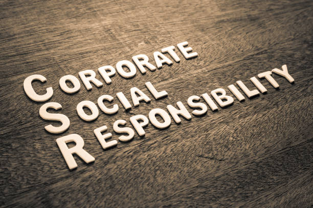 csr wood letters (corporate social responsibility) - responsible business stock photos and pictures