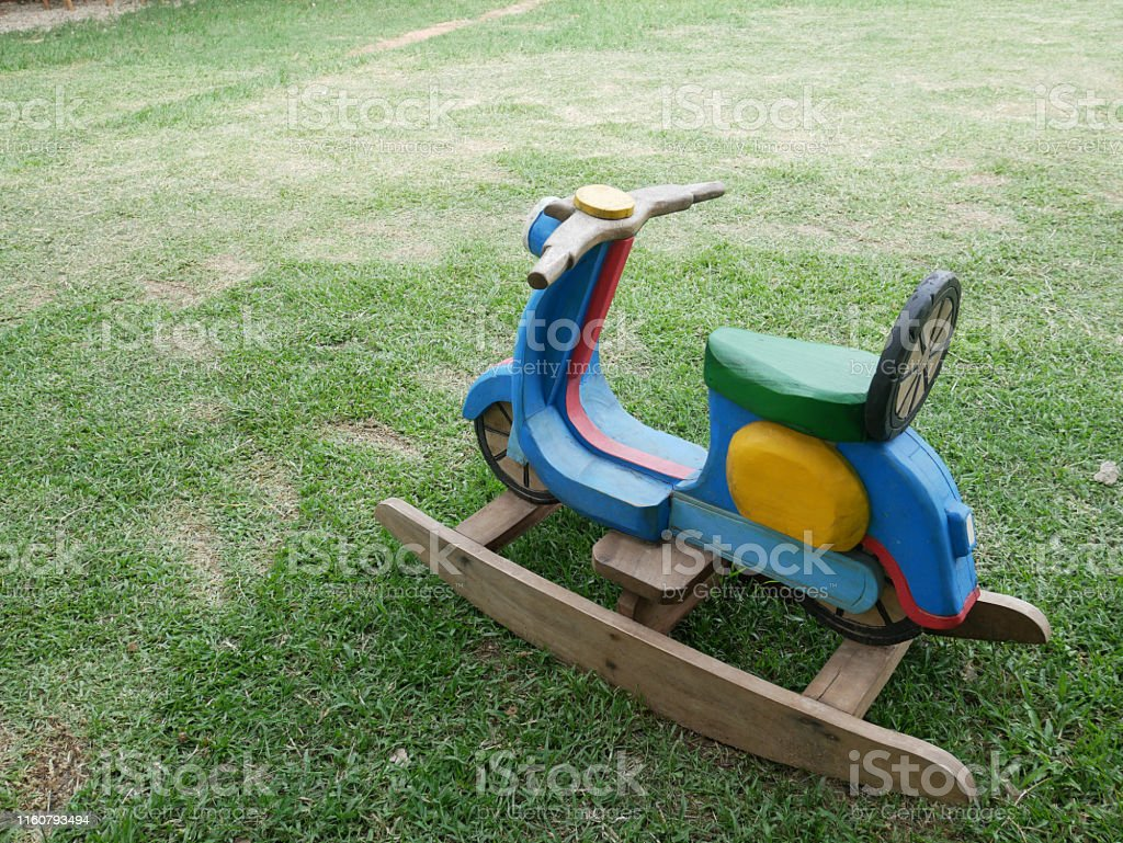 Picture of: Wood Motorbike Shape Kids Rocking Chair Stock Photo Download Image Now Istock