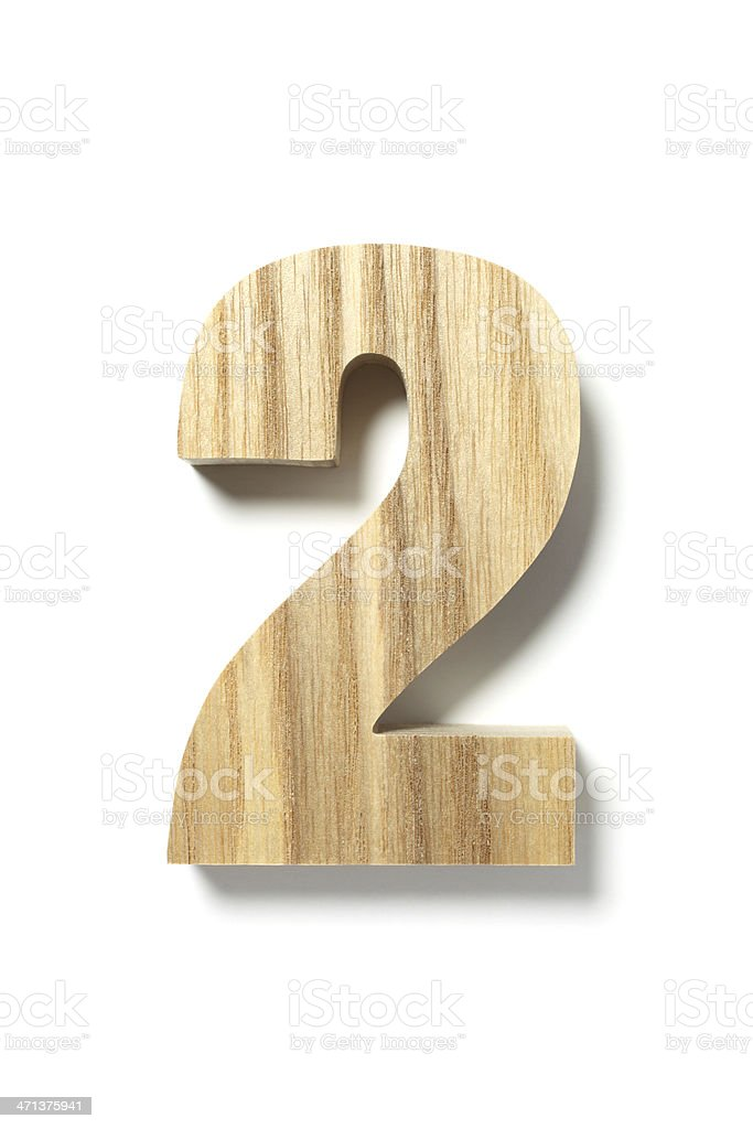 Wood Number Two stock photo