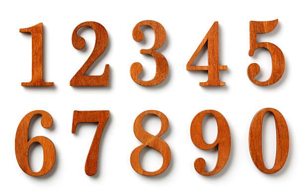 木製の番号 ストックフォト