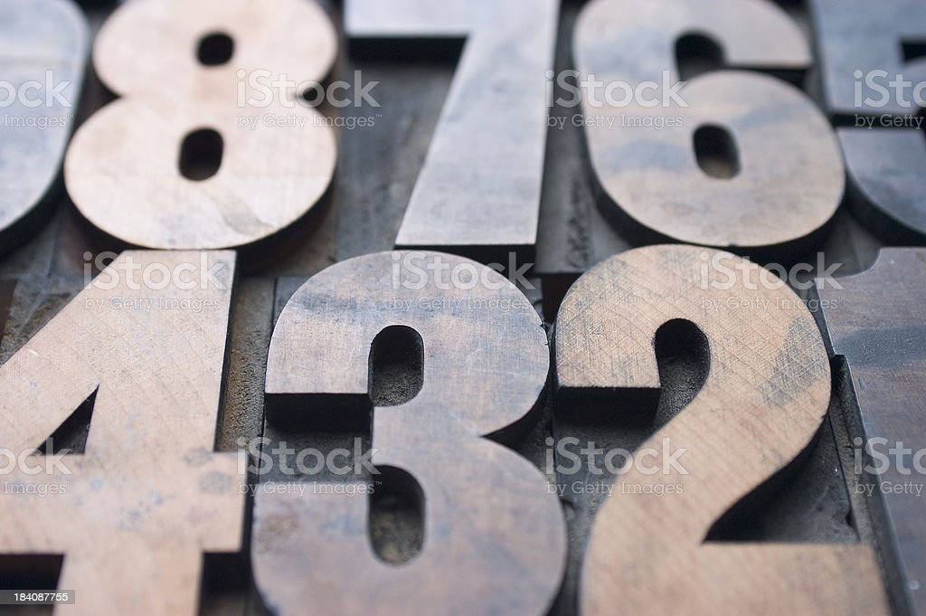 Wood Numbers stock photo