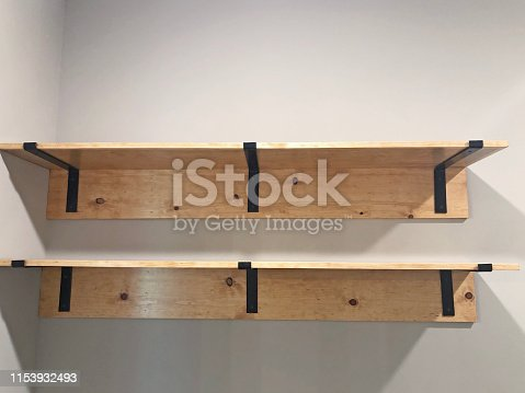665910118 istock photo Wood Open Shelves 1153932493