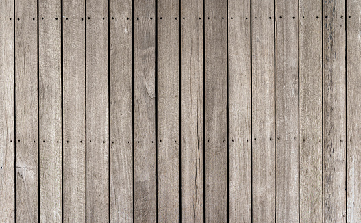 Wood or lumber pattern background, top view of wooden walkway or fence