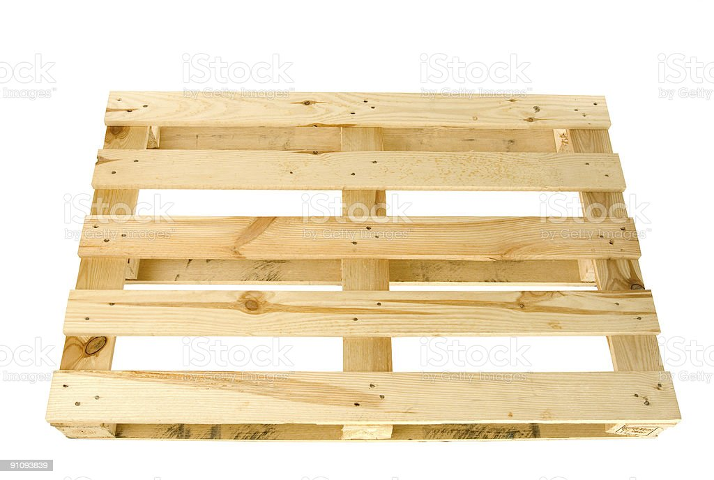 Wood Pallet Isolated Top View Royalty Free Stock Photo