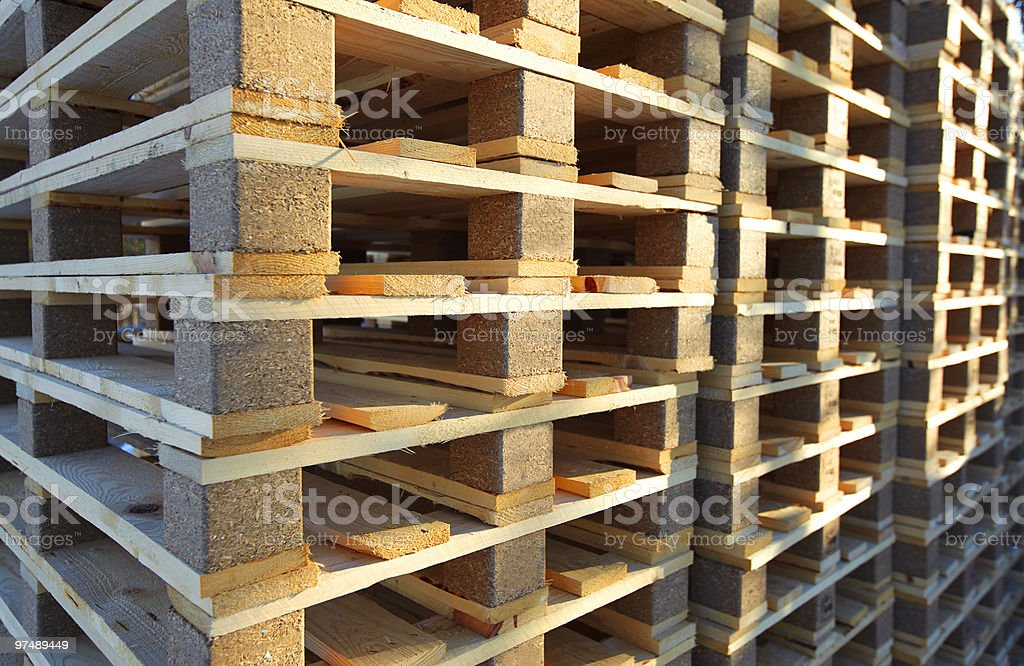 Wood pallets royalty-free stock photo