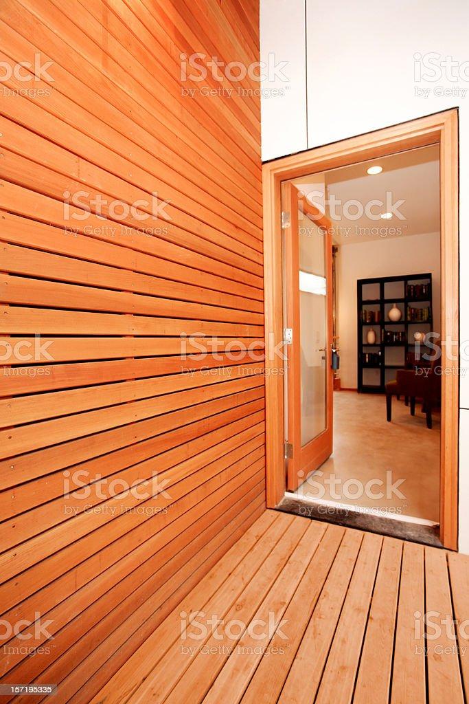 Wood Panel Entryway stock photo