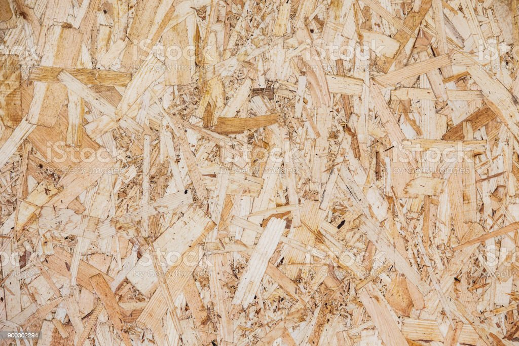 Wood particle board surface close-up background stock photo